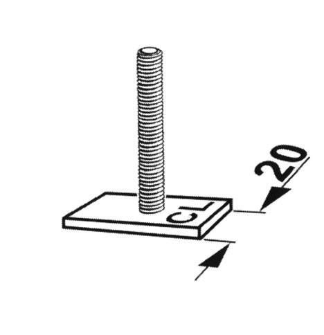 KAMEI 52003 Ergänzungsatz für Alu C-Nut Profil (20mm)